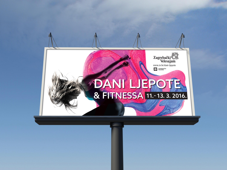 Beauty Days and Fashion 2016 Zagreb fair billboard